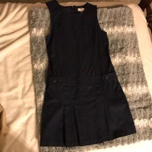 Navy blue school uniform dress.
